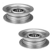 2 pk Flat Idler Pulley For GY20067 L110 L120 L130 14542GS 1642HS 1742HS Tractors - $20.36