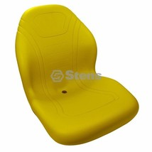 High Back Yellow Seat Fits AM122434 AM138194 TCA13830 2500E Hybrid - $135.97 - $142.97