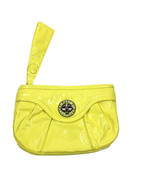 Marc by Marc Jacobs Women's Yellow Faux Leather Zipper Wristlet Clutch - $39.59