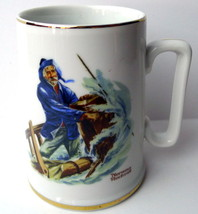Braving the Storm Sailor at Ships Wheel Tankard Norman Rockwell 1985 - $6.44