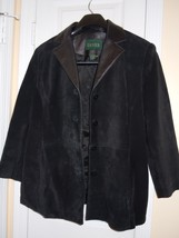 DANIER Womens Size12-14 Black SUEDE LEATHER JACKET  (Very Nice) - $24.70