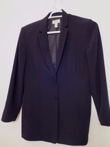 TALBOTS Womens Size 12 DOUBLE BUTTON BLACK BLAZER ( Excellent Condition ! ) - $16.82
