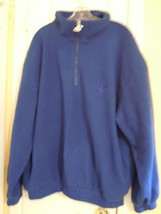 LOGO ATHLETIC Mens XL Blue Zipperneck Pullover SWEATSHIRT 100% Polyester... - $9.89