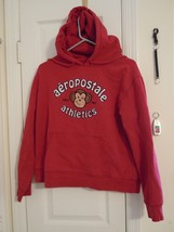 "Aeropostale Juniors Med. Red Pullover ""Hoodie"" 80% Cotton - 20% Polyester NICE ! - $6.68"