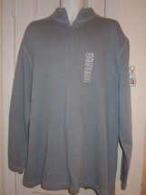 Alfani Mens 2XL Light Blue Pullover Zipper Neck Sweater 100% Cotton (NWT) NEW! - $15.14