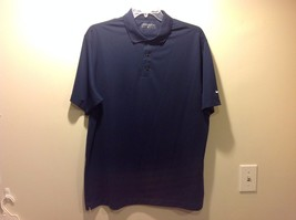 Great Condition Nike Golf 100% polyester XL Dri-fit Polo T-Shirt Navy Blue White