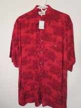 Campia Moda Mens Size M Red S/S 100% Rayon Tropical Shirt (Nwt $45.00) 65% Off ! - $15.59
