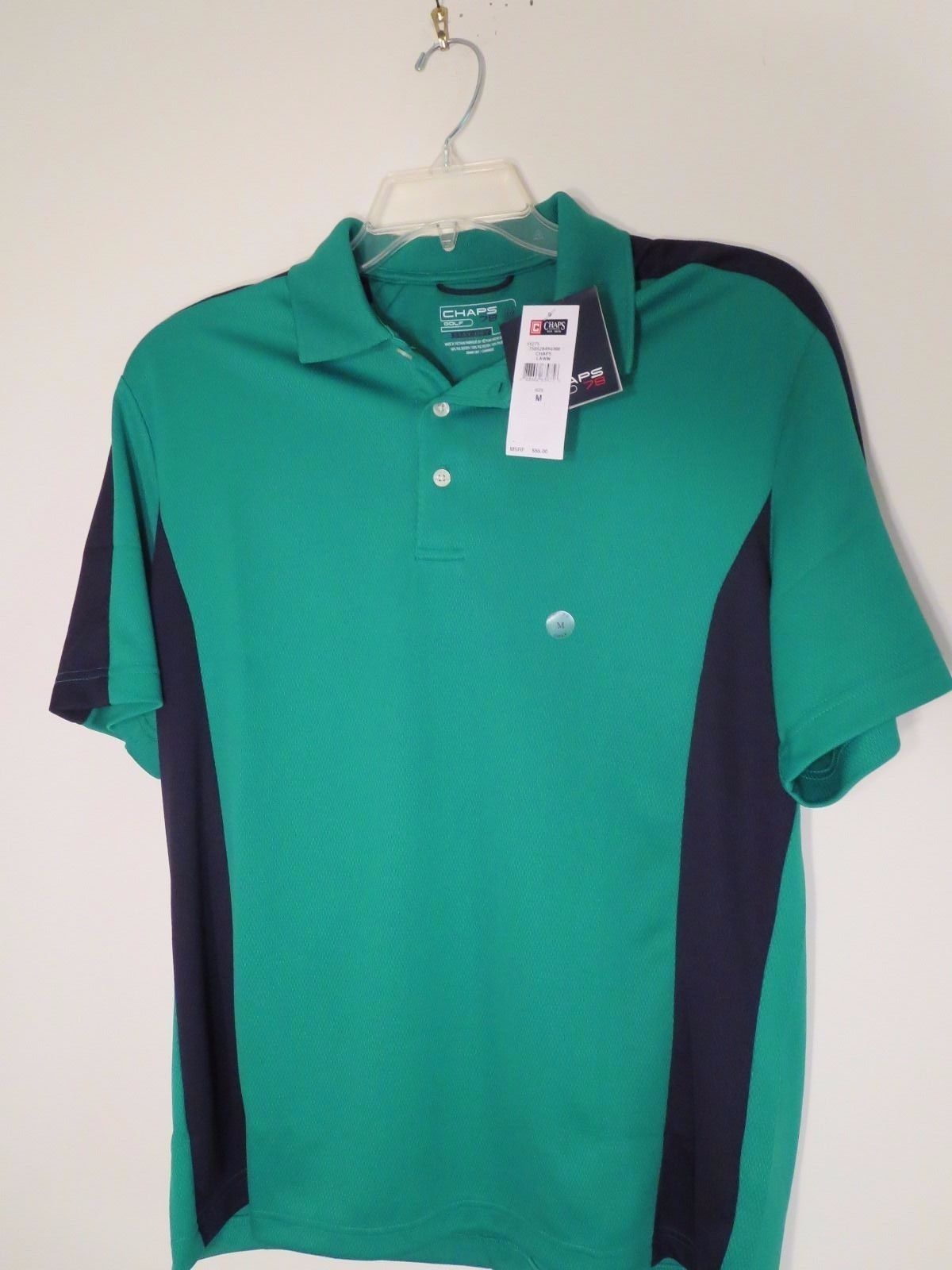 f52b40f05b9 Chaps Golf Stay-Dry Mens Sz M Green S/S and 50 similar items
