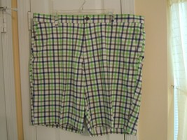 Chaps Golf Shorts Mens Sz.40 Multi-Color Checkered 95% Poly- 5% Elastane (Nwot) - $14.80