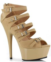 Ellie Shoes Volume 39 609-Una - Nude PU - $60.99