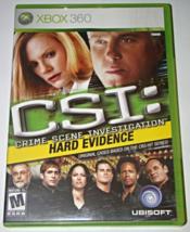 XBOX 360 - CSI: HARD EVIDENCE - UBISOFT (Complete with Manual) - $8.00