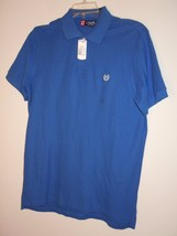Chaps Men's S/S Golf / Polo Shirt Size M Blue NWT $40.00 (60% OFF) Only ... - $14.26