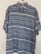 CAMPIA MODA Mens Size M Multi-Color 100% RAYON Short Sleeve SHIRT  Nice ! - $7.13