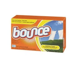 Bounce Dryer Sheets Outdoor Fresh Scent Fabric Softener 80 Ct Box - $9.74