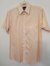 Bill Blass Mens Size M (15-1/2) Peach Color Short Sleeve Button Down Shirt - $8.90