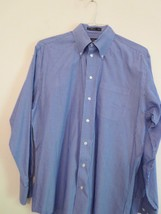 NWOT NAUTICA Men's 15-1/2, 34/35 BLUE & WHITE STRIPED OXFORD Button-Down... - $11.87