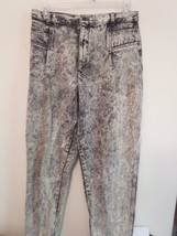 Women's Size 16 Black & White Splattered Look Jeans Very Good Cond (Made... - $10.68