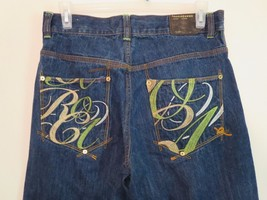 Men's Size 34x31 High Fashion Blue Jeans by Rocawear ( EXCELLENT condition ! ) - $9.89