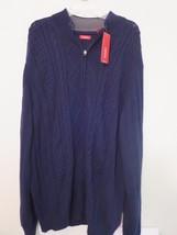 Men's 2XLT Dark Blue Designer Sweater IZOD INWT $80.00 (60% OFF) Only $3... - $31.68