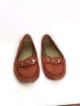 Coach Fortunata Signature Loafer Shoes Size 7.5 Burnt Red Pink - $25.73