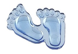 Footprint  Acrylic Charm-Blue - $9.85