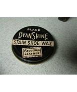 Black Dyanshine stain show wax polish tin can vintage - $10.89