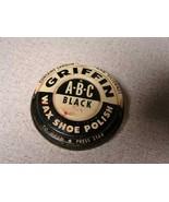 Griffin shoe polish tin can vintage ABC - $10.89