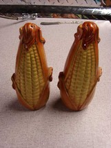 Corn on the Cob in Husk Ceramic Salt & Pepper Shakers w/stoppers Japan - $5.94