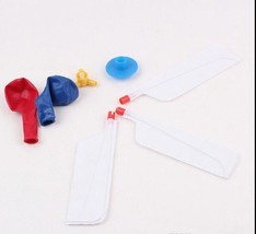Colorful Balloon Helicopter Aircraft Flying Toy - 1x w/Random Color and Design image 3