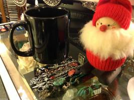 Ceramic Black Coffee Mug with Blah Blah Blah message on front image 2