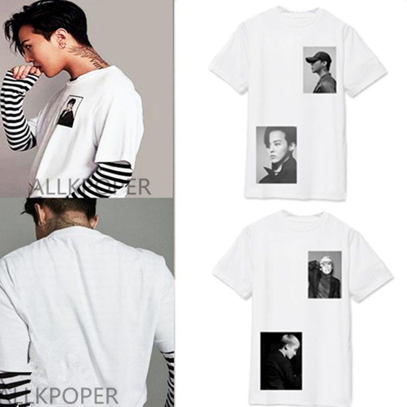Kpop Bigbang Tshirt GD T-shirt Unisex Tee G-Dragon Cotton Top DAESUNG SEUNGHYUN for sale  USA
