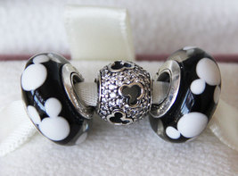 925 Sterling Silver Charms Beads Jewelry Gift Set Fit European Bracelet-... - $31.98