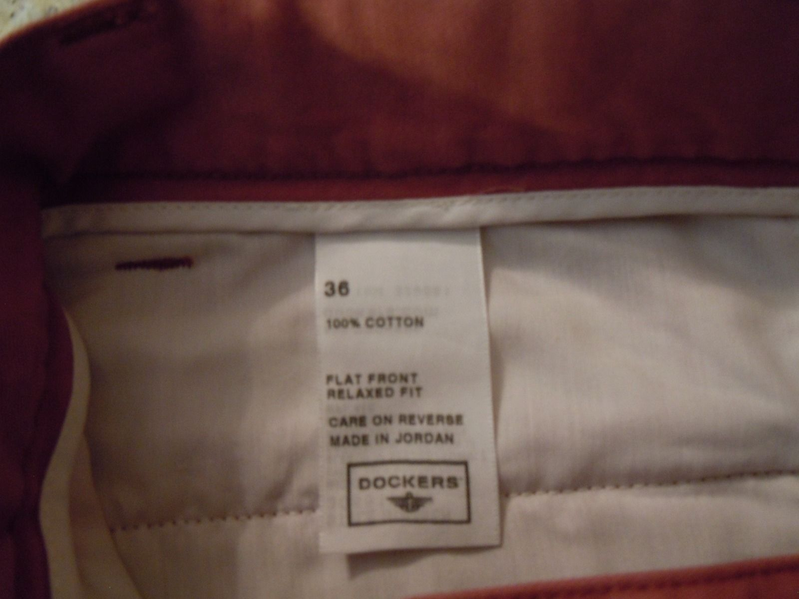 7471f9d7e01a70 NWOT DOCKERS Mens Size 36 TERRA COTTA CARGO SHORTS Relaxed Fit 100% Cotton  (NEW