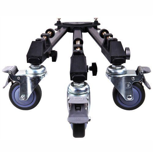 Professional Dslr Video Camera Camcorder Tripod Dolly Rolling Wheel Heavy Duty