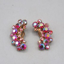 Vintage Weiss Signed Crystal Clip Earrings - $24.74