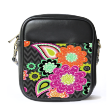Sling Bag Leather Shoulder Bag Limited Ziggy Zinnia From Vera Bradley Gi... - £10.93 GBP