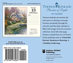Stamp Europe Thomas Kinkade Painter of Light 2017 DaytoDay Calendar 5821 - $24.42