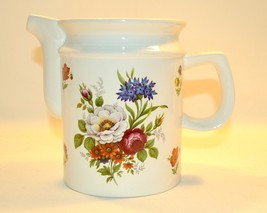 Vintage Arthur Wood Floral Water Pitcher  Shabby Chic  - $19.80