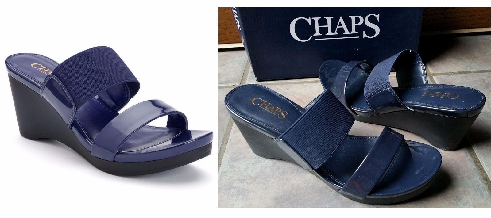2bd9b9e2e98  65 Chaps Ralph Lauren Sandals-NAVY Rhoda and 50 similar items