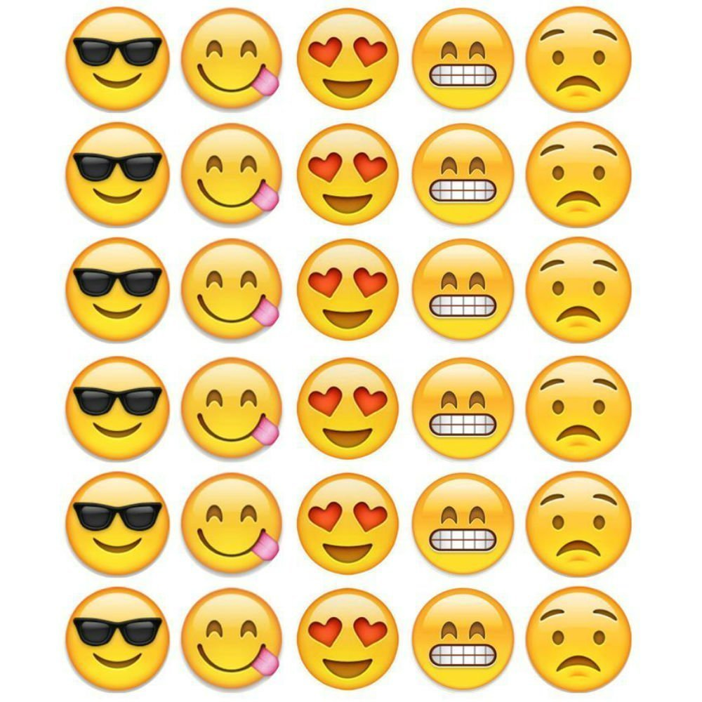 Emoji Faces Cupcake Toppers Edible Wafer Paper BUY 2 GET