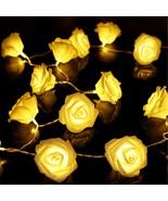 20 x LED Novelty Rose Flower Fairy String Lights Wedding Party Christmas... - $9.60