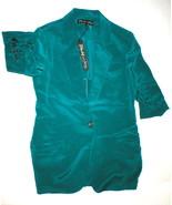 NWT New Womens Designer Elizabeth and James Blazer Jacket 2 Silk Green Jade - $581.75
