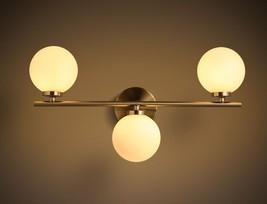 Flos Globe Milk Glass Triple Sconce G4 Light Wall Lamp Home Lighting Fixtures - $168.85