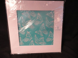 Lladro Collector Society Scarf Buttefly Turquoise & White Silk - £15.42 GBP