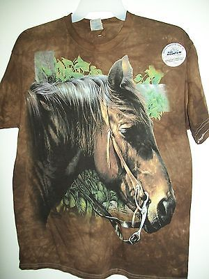 Brown Quarter Horse Western Horse Show Hobby T-shirt Large The Mountain - $27.00