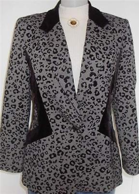 Black Leopard Print Horse Show Hobby Jacket  Sz 12 Apparel Showmanship Lungeline - $65.00