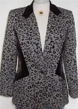 Black Leopard Print Horse Show Hobby Jacket  Sz 12 Apparel Showmanship L... - $65.00