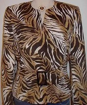 Tiger Print Western Horse Show Hobby Halter Jacket Size 10  Rodeo Apparel Riding - $65.00