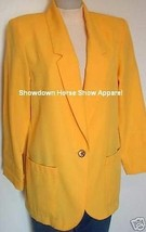Bright Yellow Western Halter Horse Show Hobby Jacket Size 10 Western Sho... - $55.00