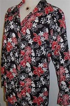 Black White Red Floral Western Halter Horse Show Hobby Jacket Plus Size 3X - $55.00